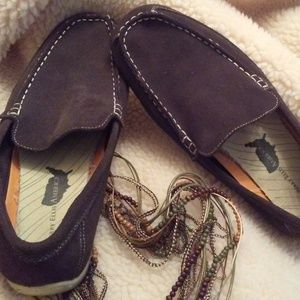 Perry Ellis American Brown Soft Suede Loafers